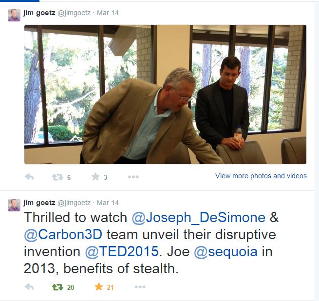 Carbon3D Tweet